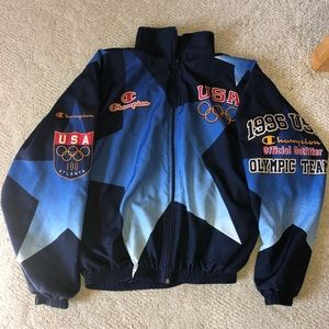 RARE Champion 1996 Summer Olympics Zip Windbreaker